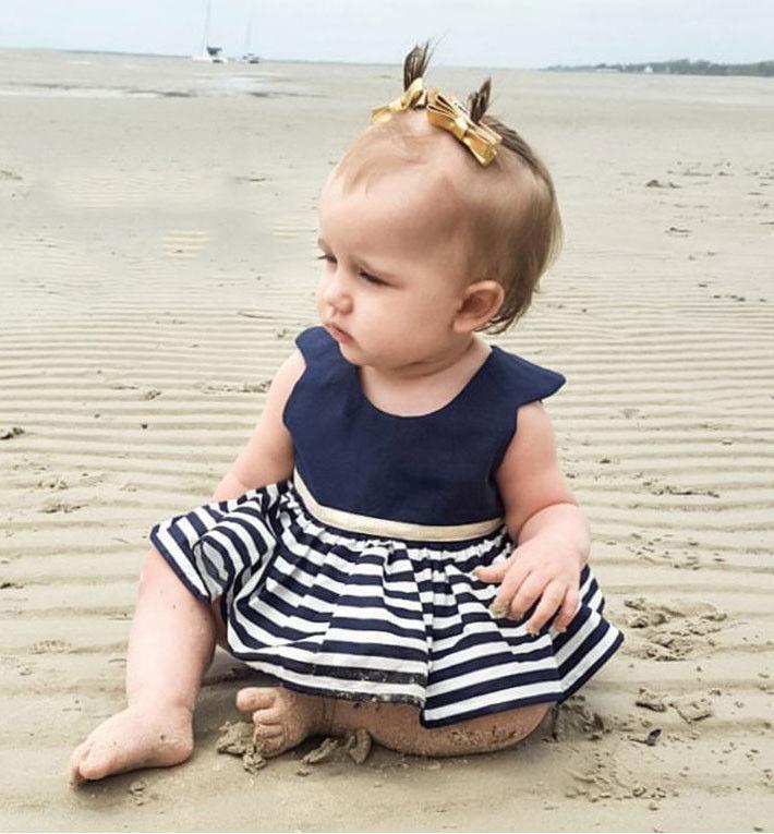 Newborn-Baby-Girls-Party-Princess-Pageant-Tutu-Dress-Kid-Toddler-Navy-Blue-Dresses-5