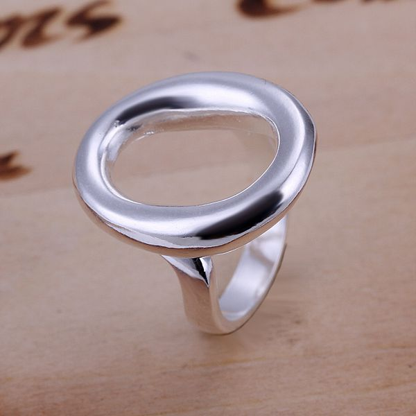o shape open anillos CR119# wedding rings for men and women silver plated finger ring men big rings for women rings