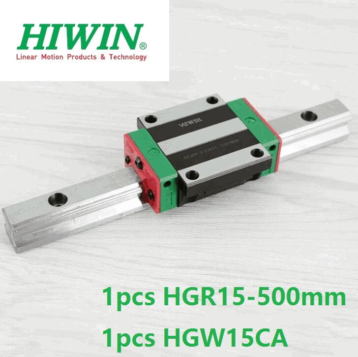 1pcs 100% original Hiwin linear guide rail HGR15 -L 500mm + 1pcs HGW15CA HGW15CC linear flange carriage block cnc router цена