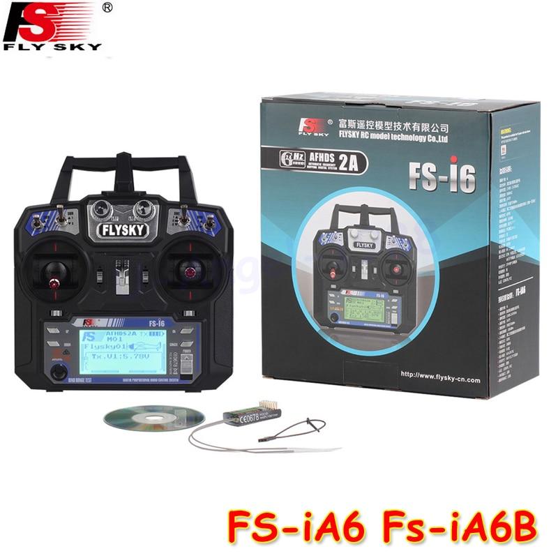 FlySky FS-i6 2.4G 6CH AFHDS RC transmetteur avec FS-iA6 récepteur de FS-iA6B pour avion hélicoptère aéronef sans pilote (UAV) Drone Multicopter - 2