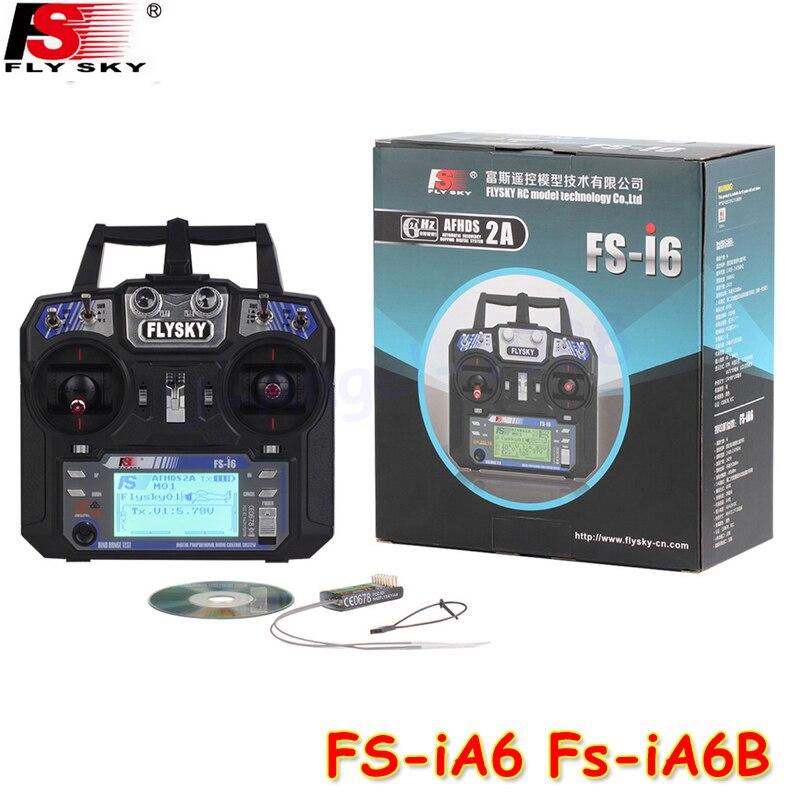 Flysky FS-i6 2.4 г 6CH AFHDS rc-передатчик с FS-iA6 FS-iA6B приемник для самолета Хели БПЛА MultiCopter Drone