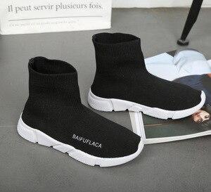 Image 5 - حذاء نسائي مرن موضة 2020 حذاء رياضة للمشي في الهواء الطلق حذاء مسطح للخروجات اليومية حذاء سميك من Zapatos De Mujer