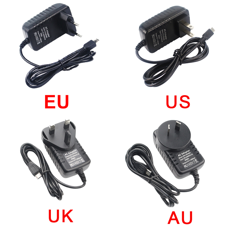 5V Micro USB AC Adapter DC Wall Power Supply Charger for Rpi Raspberry Pi 3b 3b+