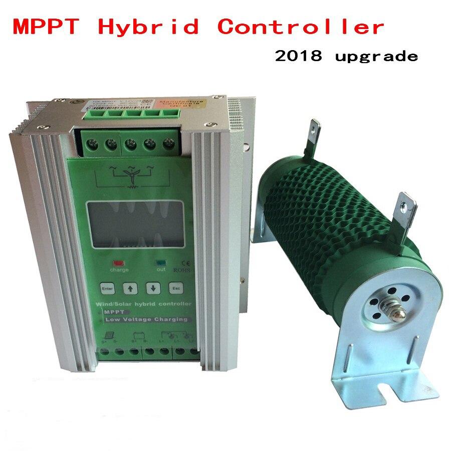 1400 MPPT Wind Solar Hybrid Boost Charge Controller 12V 24V apply for 800W 600W wind turbine generator +600W 400W solar panels цена