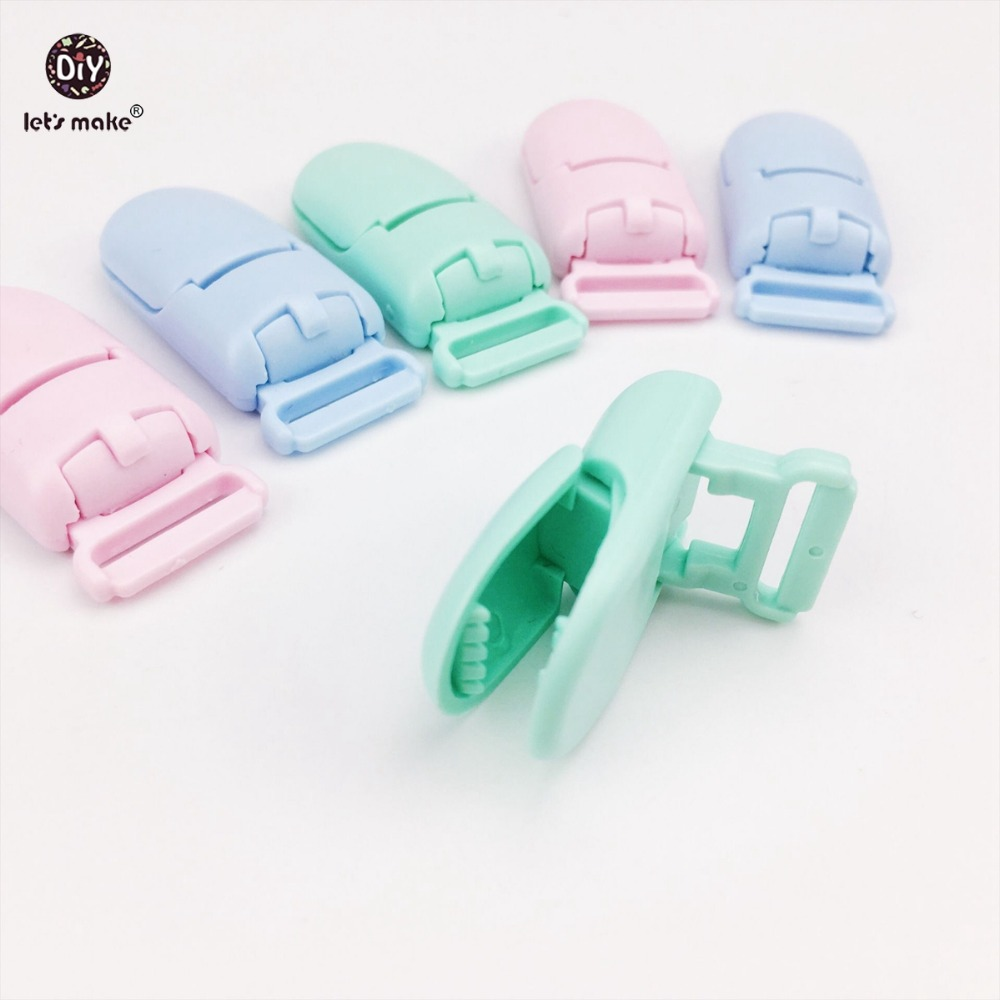 Lets Make Baby Accessories Pacifier Clips 30pcs Candy Colors Plastic Bib Holder Clips Baby Gift DIY Material Soother Clip