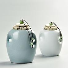111    2017 China Storage Bottles High-grade ceramic tea canister Gift storage jar Tea caddy Sugar Bowl Salt shaker Floret plug
