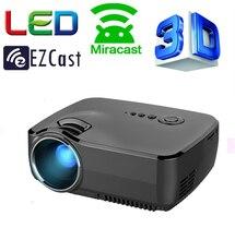 Proyección de Cine inteligente Miracast Airplay WIFI Para Iphone Android Inalámbrica de Vídeo HDMI VGA TV HD 1080 P de Cine En Casa 3D proyector