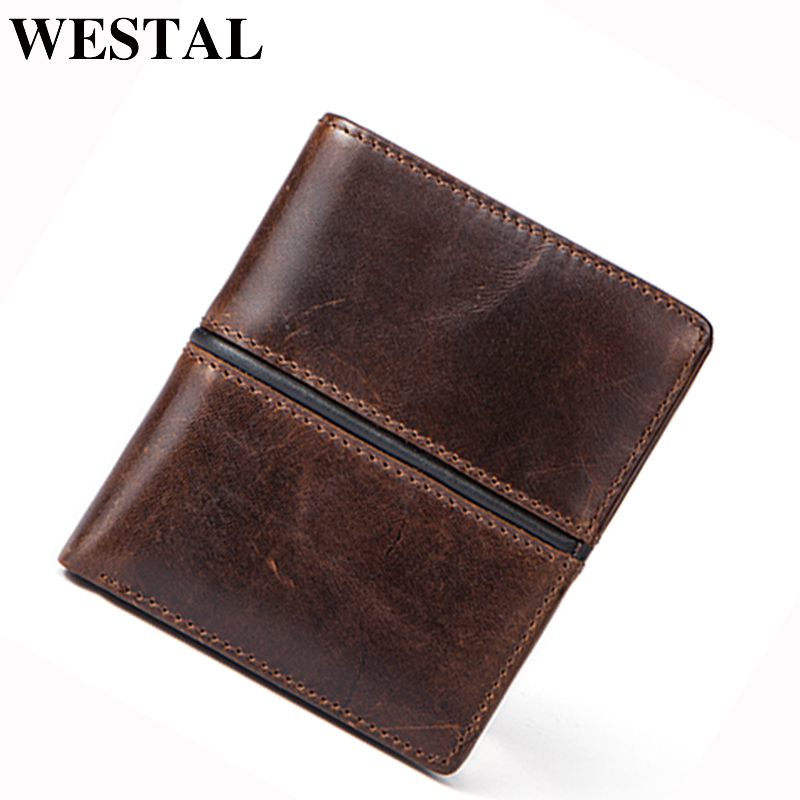 WESTAL Men Wallets male genuine leather fashion men's wallet coin purse men card holder money male wallet for card wallets 8118 men wallet male cowhide genuine leather purse money clutch card holder coin short crazy horse photo fashion 2017 male wallets