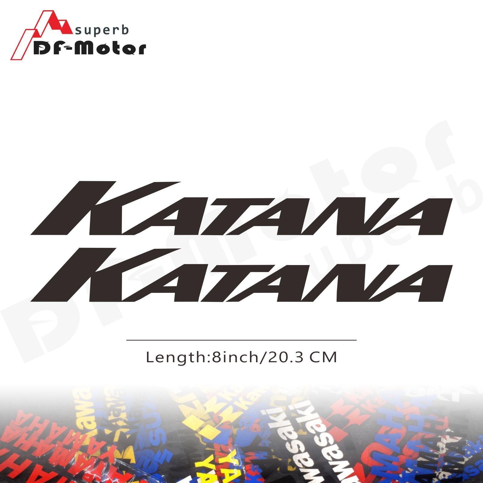 8Inch Reflective Sticker Decal Motorcycle Car Sticker Wheels Fairing Helmet Sticker Decal For Suzuki Katana
