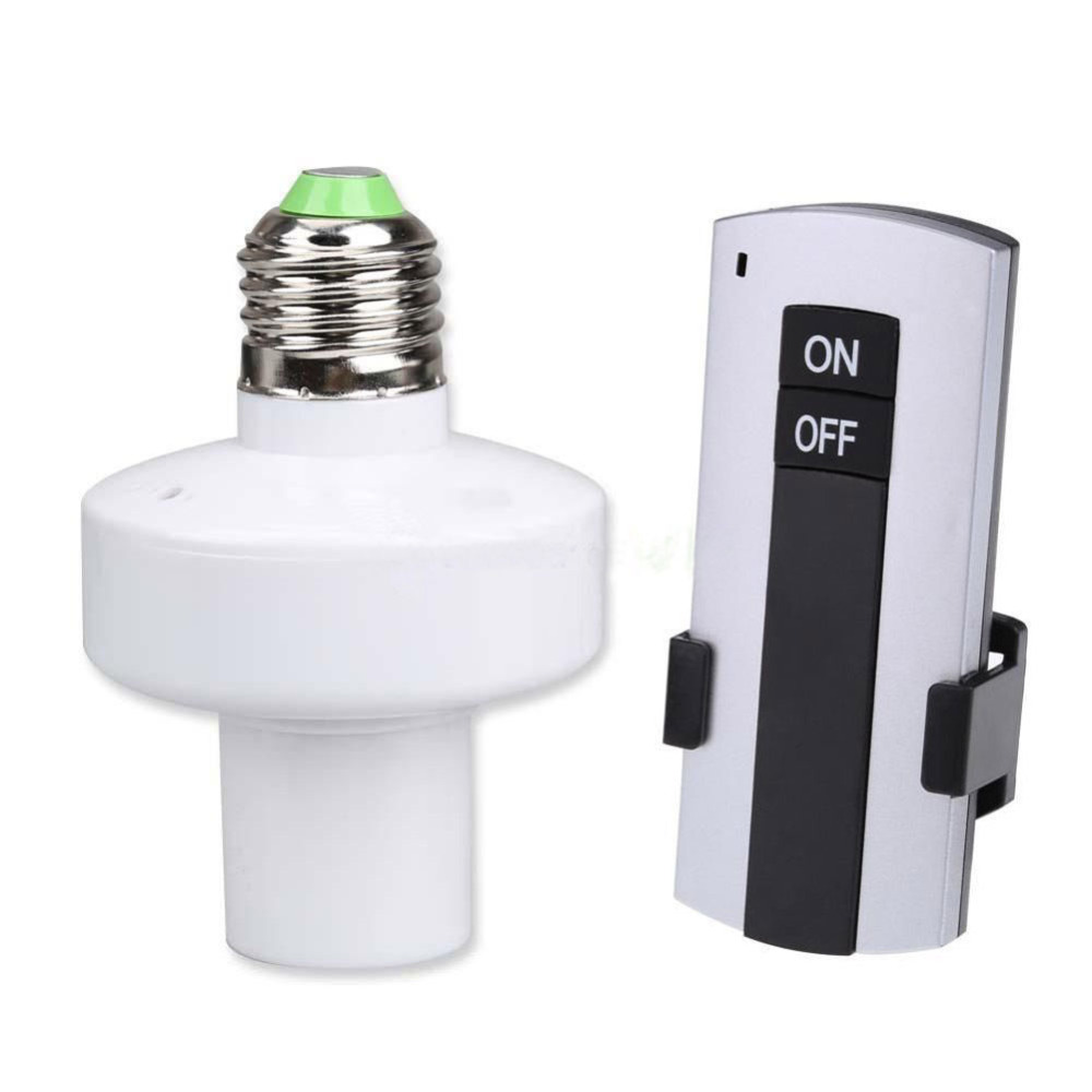 Remote Control E27 10M Screw Wireless Light Lamp Bulb Holder Cap Socket Switch