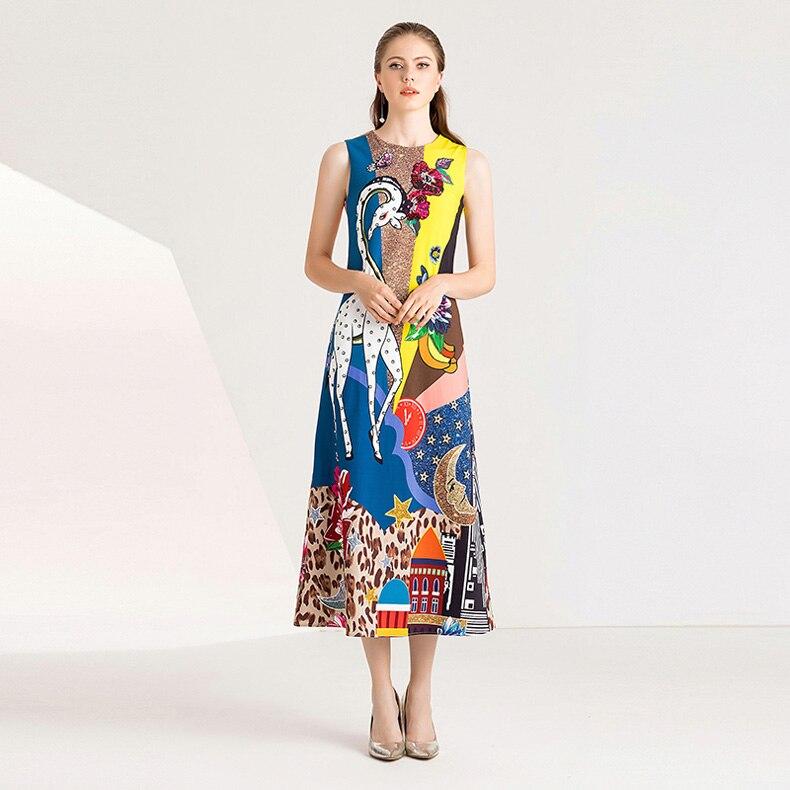 High Casual Multi Imprimé Piste Baguettes Sans Dame O Milan De Femmes Fashion Robes Manches Street Cou pqxP6Zxw