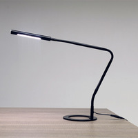 TUDA Free Shipping 26X41cm Contemporary Style Desk Lamp Creative Black Aluminum Alloy Desk Lamp Touch Switch Dimming Desk Lamp