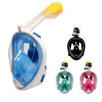 Swimming Snorkeling Mask Underwater for Diving Full Face Snorkel Anti Fog Anti Leak Beach Sea Swim Pool Accessories Adult Child