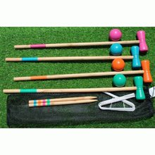 Outdoor Game Sport Gate Ball Croquet Croguet 1 Set for 4 Players(China)
