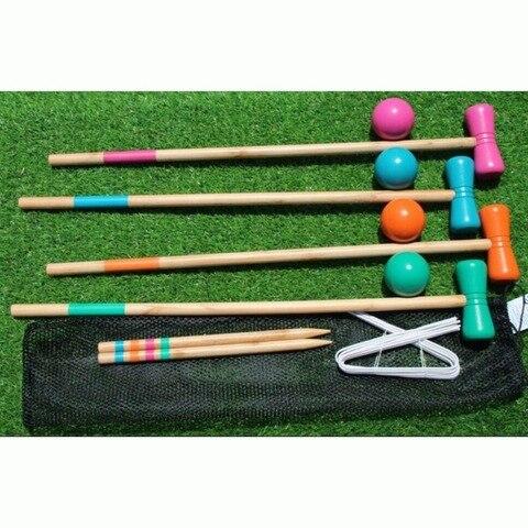 Jogo ao ar Conjunto para 4 Livre Bola Esporte Portes Portão Croquete 1 Jogadores