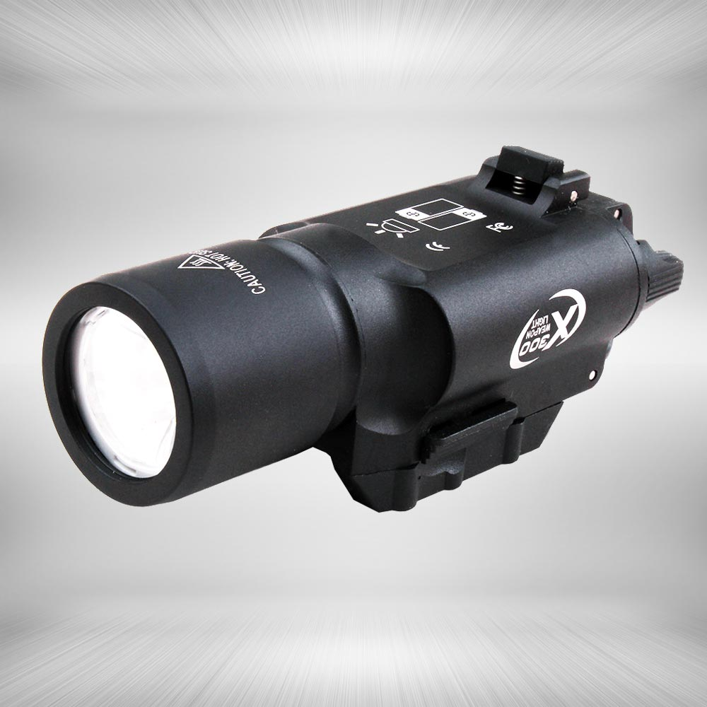 Tactical LED Pistol M4 Rifle Flashlight X300 Lanterna Ultra White Light 500 lumens For Hunting Shooting new arrival x300 led tactical flashlight white weapon light torch for rifle scope for hunting shooting free shipping