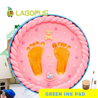 lagopus Polymer Clay Baby Hand& Foot Printer Slime Fluffy Exquisite Baby Souvenirs for New Born Baby Best Gift 4 Color