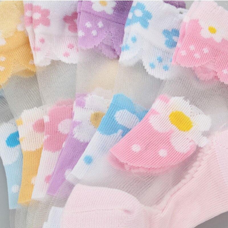 6 пар/лот носки для девочек для детей сетки стиль для маленьких девочек veto носки с elastic Крюгер цветы baba летняя оптовая продажа