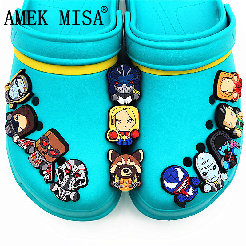 12Pcs/Set PVC Shoe Decorations Cartoon Star Wars Garden Shoe Croc Charm Venom Shoe Accessories For JIBZ/ Wristbands Kids Xmas