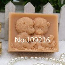 Продукт! 1 шт. обезьяна ребенок(zx301) Силиконовые ручной работы мыло Плесень ремесла DIY Плесень