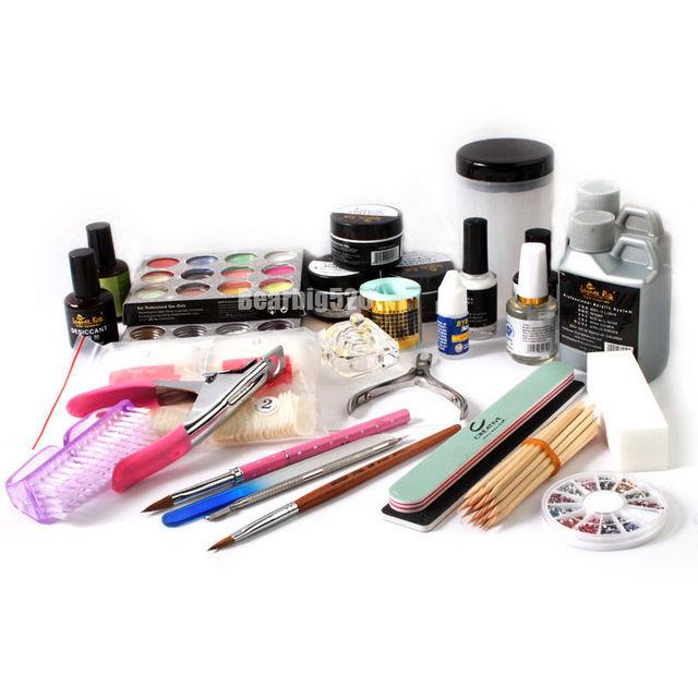 Acrylic Nail Kit Beauty Shop Necessary Acrylic Pen Powder Liquid Top Coat Tool Set Nail Art Basic System Hot Sale