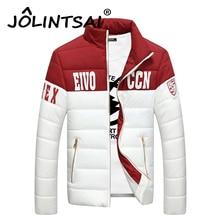 Fashion Winter Jacket Men Downs And Parka Patchwork Letter Print Men Jacket Casual Coat 2016 Jacket Zipper Jacket Men Clothes