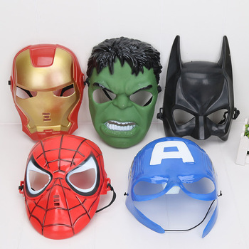 5pcs/set Marvel the avengers Endgame Mask Superhero Kids Spiderman Iron Man Hulk America Captain Party supplies Children Cosplay predator concrete jungle figure