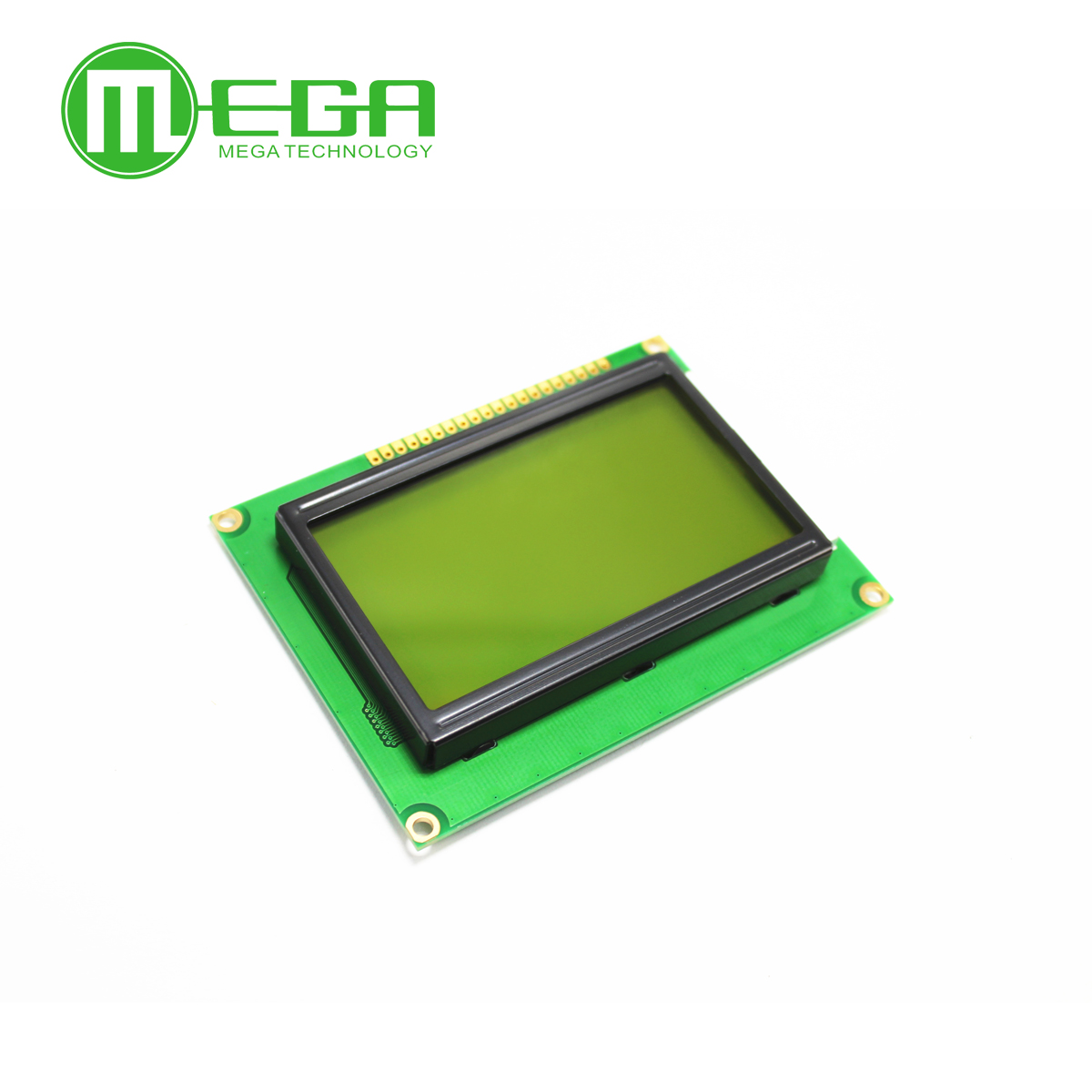 2PCS ST7920 5V 12864 128x64 Dots Graphic LCD Yellow green Backlight