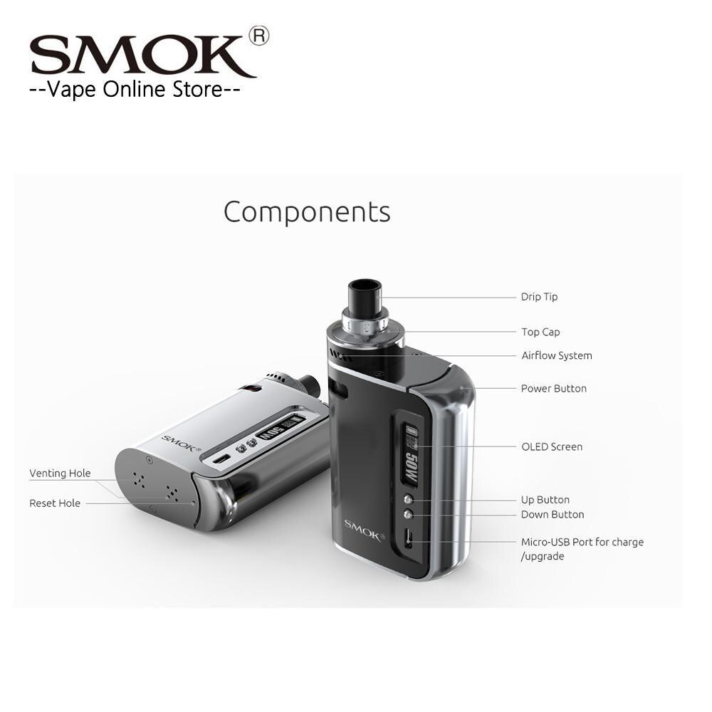 Liquidation! Smok origine OSUB Un Kit Tout-en-Un Kit 50 W Osub une Boîte MOD avec 2200 batterie mah et 2 ml Réservoir E Cigarette Vaporisateur kit - 3