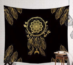 Image 5 - CAMMITEVER Mandala Hippie Moon Sun Dreamcatcher Tapestry Bohemian Beach Towel Polyester Thin Blanket Yoga Shawl Mat Dark Mystery