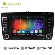 Quad Core DAB+ FM BT Android 5.1.1 2Din 7″ 1024*600 WIFI Car DVD Player Radio PC Audio Stereo Screen For Skoda Octavia 2009-2013