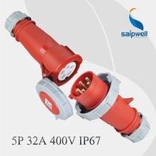 IP67 5P 415V 32A гнездо и штекер CEE IEC 60309-2