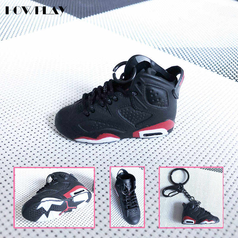 eca6833e5 HowPlay AJ6 Basketball Shoes Model Three-dimensional Keychain Backpack  Pendant Soldier Shoes Handmade Air Jordan Creative Gift