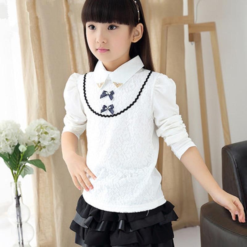 Children Girl Princess Shirts Fashion School Girls Cotton Warm All Match Shirt Baby Tops Tees Kids