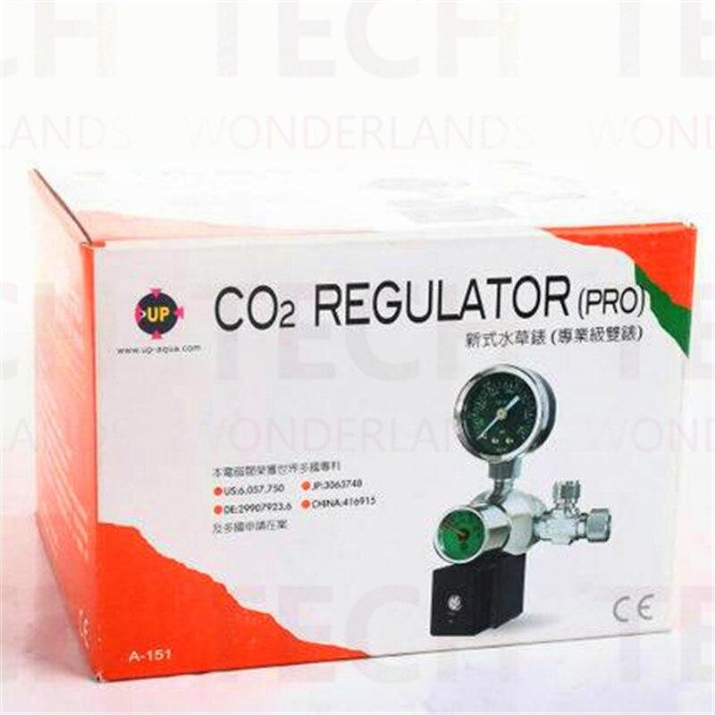 UP Brand 110 V/220 V tension Co2 régulateur de pression vanne magnétique-solénoïde réglable plantes aquarium livraison gratuite