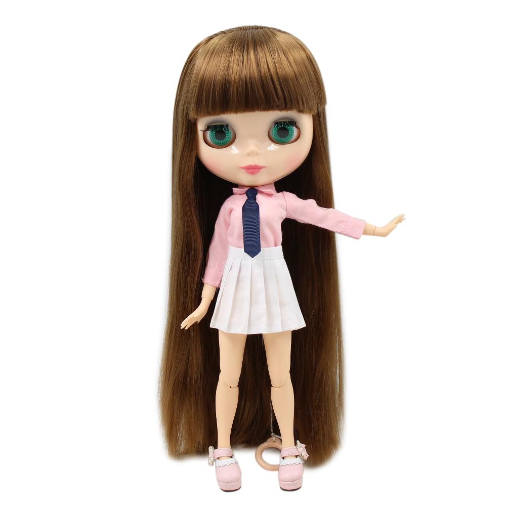 все цены на factory blyth doll natural skin JOINT body with Bangs/fringes straight brown hair 1/6 30cm bjd girl gift BL0623