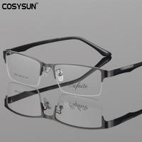 TR90 Men Glasses Frame Prescription Glasses Fashion Quality Ultra Light Glasses Frame Men Metal Semi Rimless