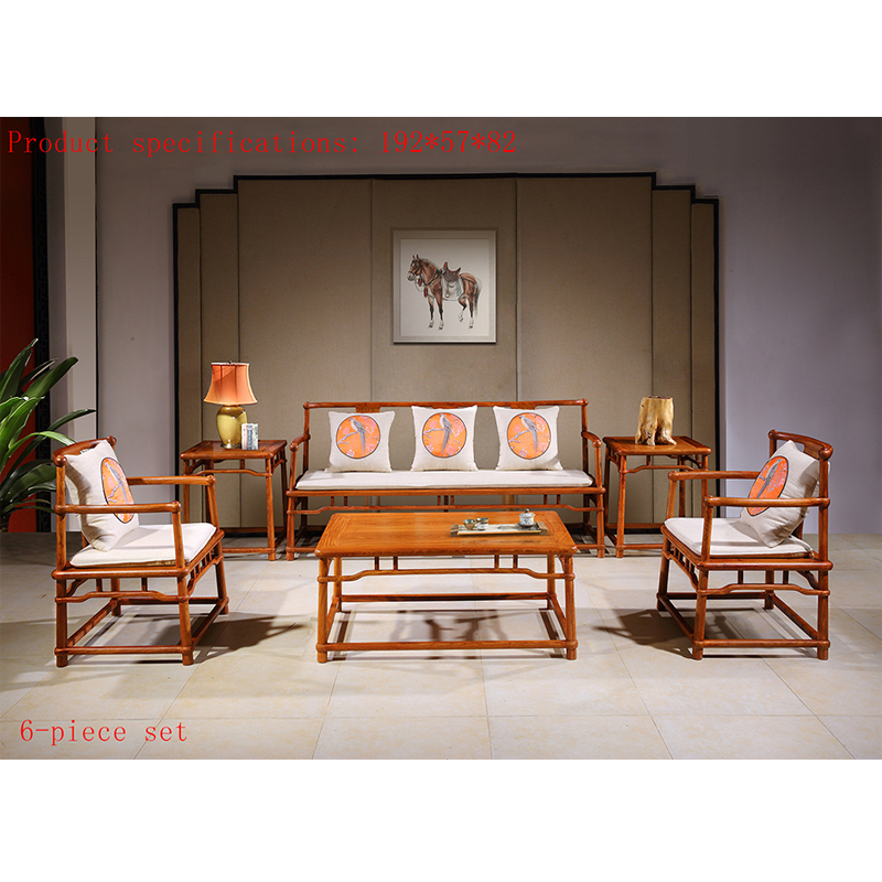 Us 8000 0 6 Piece Set Antique Mahogany Sofa Chair Set Custom Rosewood Furniture For Living Room Solid Wood Tea Table Classic Furniture In Living