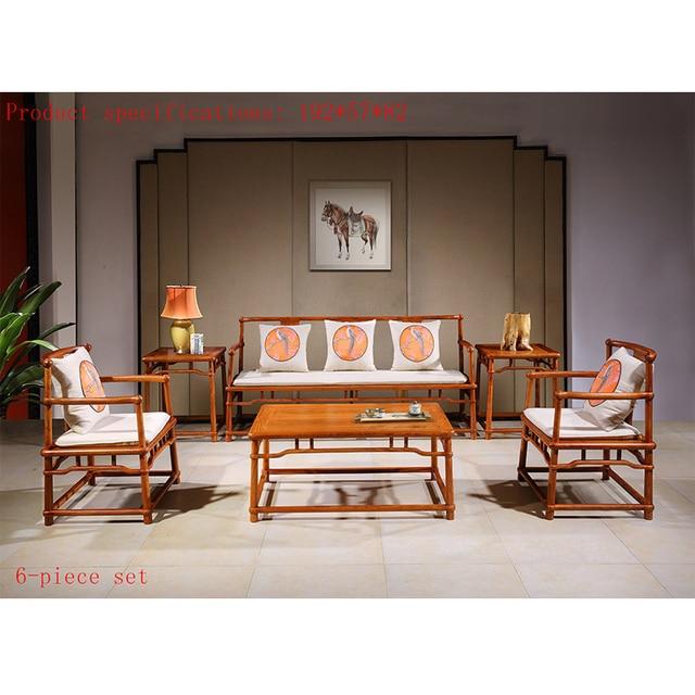 6 pezzi/set Antico Divano In Mogano Sedia Set Personalizzato Mobili Per  Soggiorno Legno Massello Tavolo Da Tè di Palissandro Classici