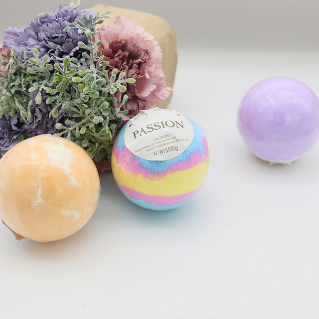 1 piece Bath Bombs Single pack100G Natural Essential Handmade Organic Spa Bomb Ideal Gift for Women Bath Salt, Fizzy Spa 1