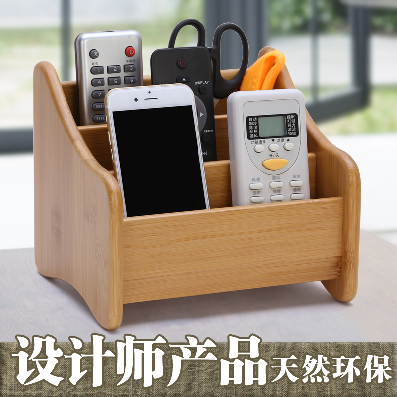 Wooden Multifunction Desktop Storage Box Desk Stationery Organizer Phone Pen Pencil Jewelry Makeup Cosmetic Holder Case Containe