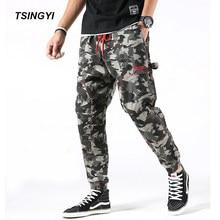 Tsingyi camuflaje Mens joggers Hip Hop Camo Jeans ligero Cordón de longitud  completa Hombre hombres Harem pantalones más tamaño . f07e771a4b0