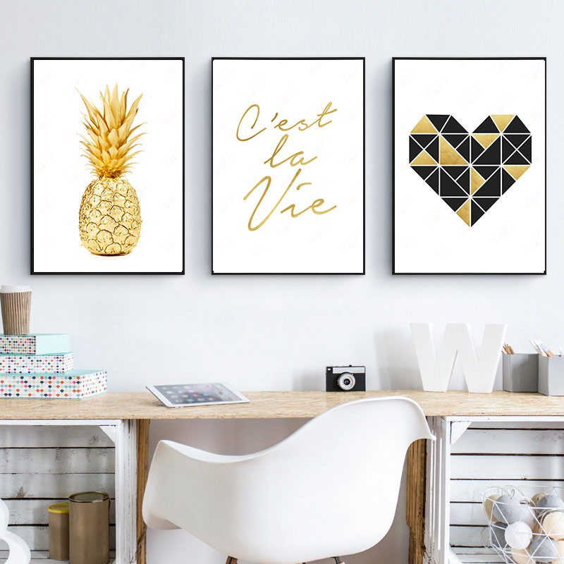 Bedroom Art Supplies: HAOCHU House Office Bedroom DIY Painting Letter Pineapple