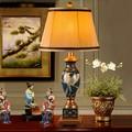 Clássico europeu resina de proteção ambiental de cristal esculpida decorativo lâmpada de mesa quarto sala de estar decoração de mesa lâmpada