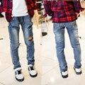 Детская одежда джинсы для Мальчиков случайные штаны 2016 весна/осень Большой мальчик джинсы все-матч плюс размер горячая продажа