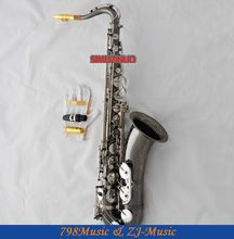 professional new black silver Nickel tenor Saxophone with Sax Case