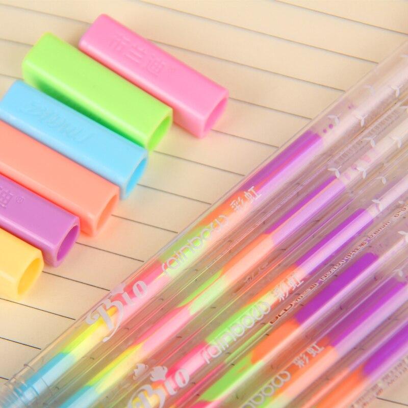 36 pcs/Lot 6 color in 1 refill color art marker for album scrapbook Black paper card marker drawing pen DIY School supplies F555