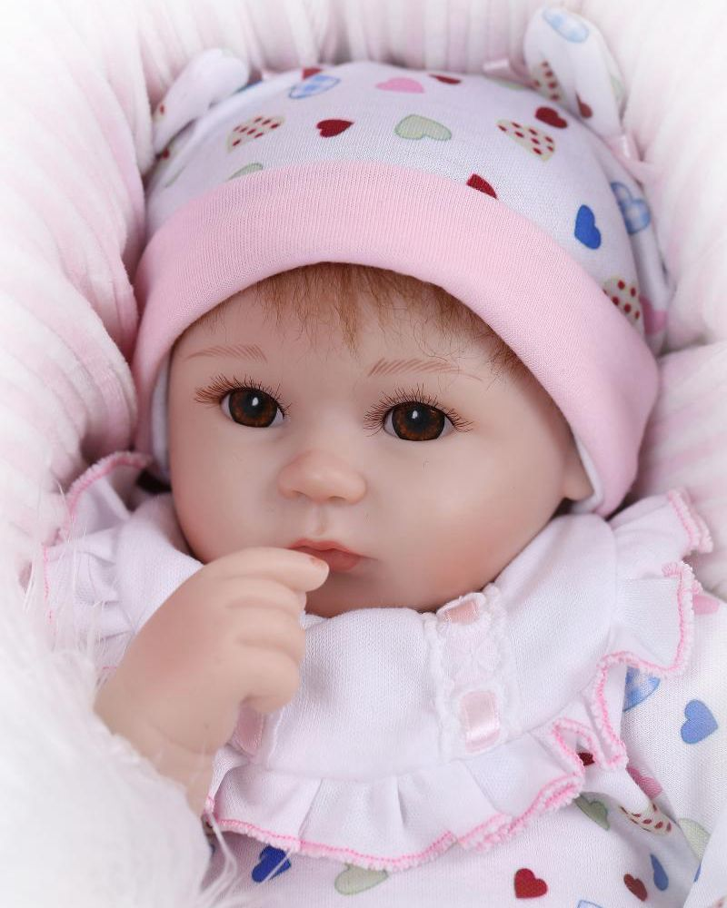 4efa92ab008 18inch Lifelike Reborn Baby Doll Kits Soft Silicone Fake Girl Babies Look  Real Kids Gifts Playhouse Stuffed Toys on Aliexpress.com