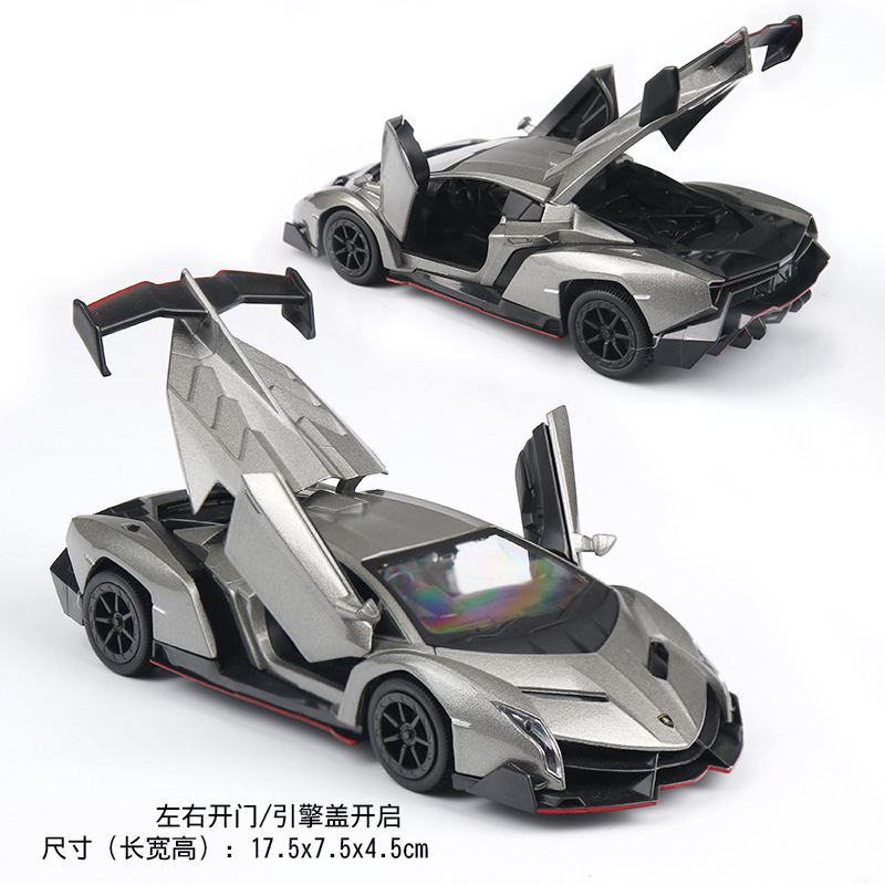 Electric Alloy mkd3 Scale Car Models Die-cast coche carro Toys for Children mkd3 1:29 auto Vehicle Rambo Veneno with Soung light