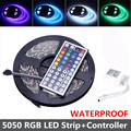 Waterproof RGB LED Strip 5050 5M 300leds SMD with 44key Remote Controller Flexible IP65 LED Tape 12V RGB LED Strip Light